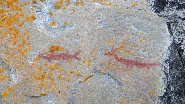 Agawa Rocks Pictographs, Lake Superior Provincial Park, Ontario, Canada