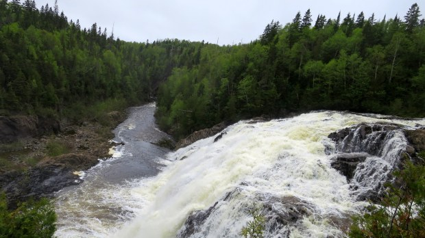 Looking downstream from High Falls, Magpie River, Ontario, Canada