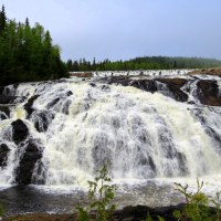 Wawa Waterfalls: High Falls and Silver Falls on the Magpie River