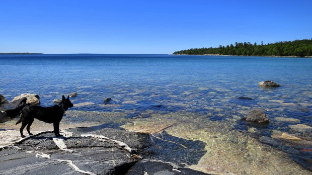 Igneous intrusion, Katherine Cove, Lake Superior Provincial Park, Ontario, Canada
