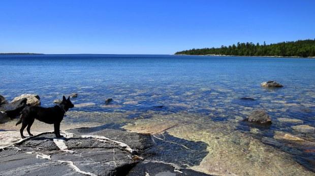 Igneous intrusion, Katherine Cove, Lake Superior Provincial Park, Ontario, Canada