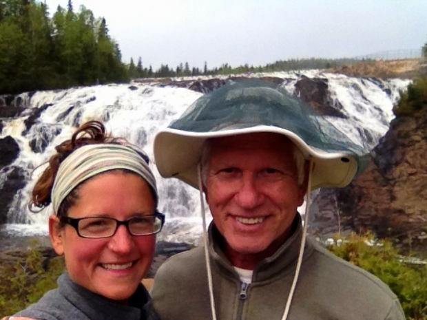 Tom and I at High Falls, Magpie River, Ontario, Canada