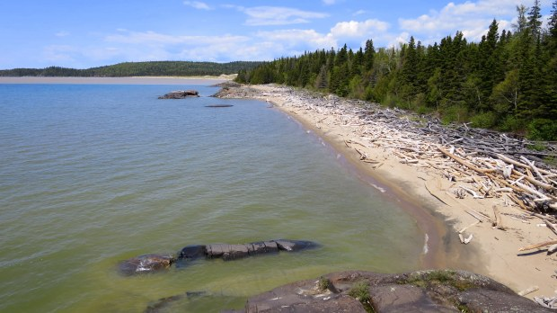 View from the top of the basalt, Beach Trail, Pukaskwa National Park, Ontario, Canada