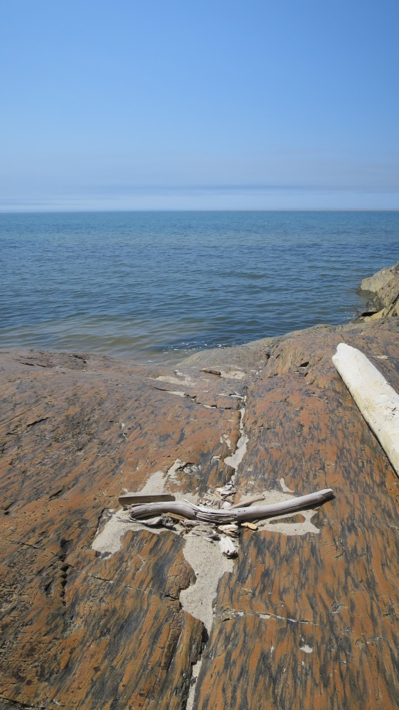 Glacial striations, Beach Trail, Pukaskwa National Park, Ontario, Canada