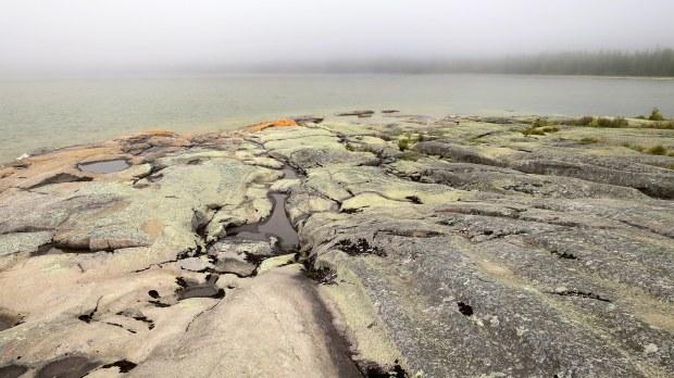 Rare nepheline syenite, Under the Volcano Trail, Neys Provincial Park, Ontario, Canada