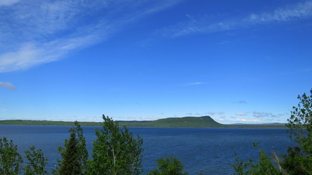 Sleeping Giant Peninsula from Trans Canada Highway, Ontario, Canada