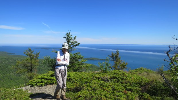 Teri on Top of the Giant Trail, Sleeping Giant Provincial Park, Ontario, Canada