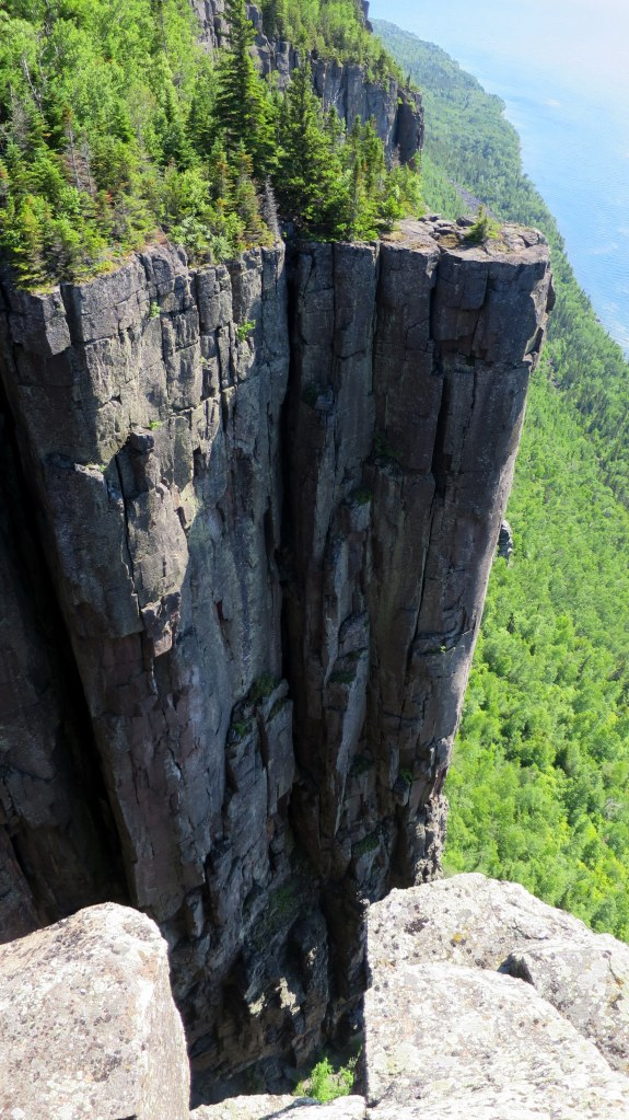 Out on the end, Top of the Giant Trail, Sleeping Giant Provincial Park, Ontario, Canada