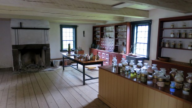 Apothecary and doctor's office, Fort William Historical Park, Ontario, Canada