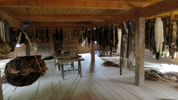 The (horrifying) fur packing building, Fort William Historical Park, Ontario, Canada