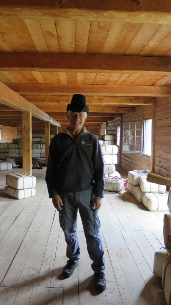 Tom in a beaver felt hat, Fort William Historical Park, Ontario, Canada