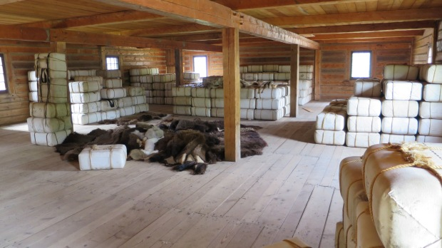 90lb packs of furs, Fort William Historical Park, Ontario