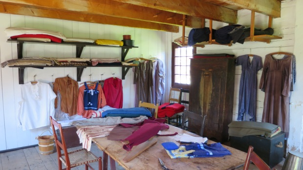 Dressmaker shop, Fort Williams Historical Park, Ontario, Canada