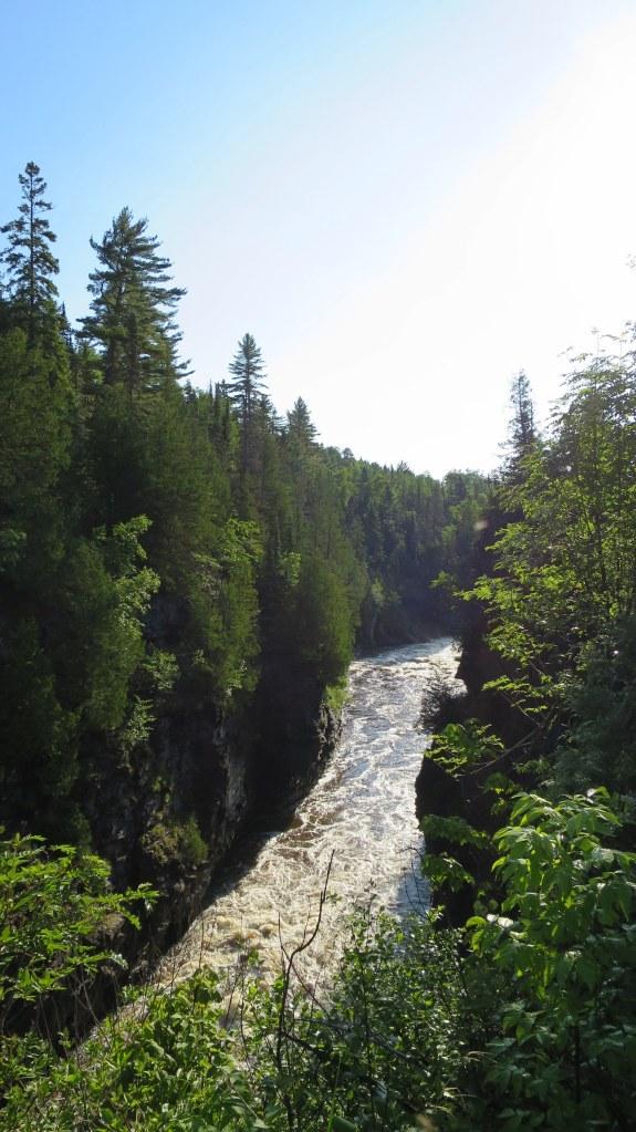 View downriver of falls, Grand Portage State Park, Minnesota