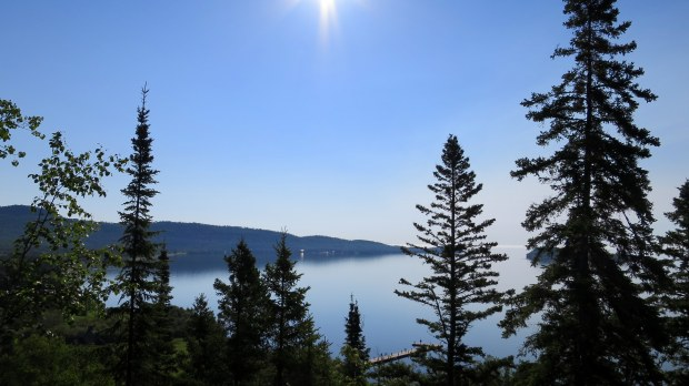 View from the ascent on Mount Rose Trail, Grand Portage National Monument, Minnesota
