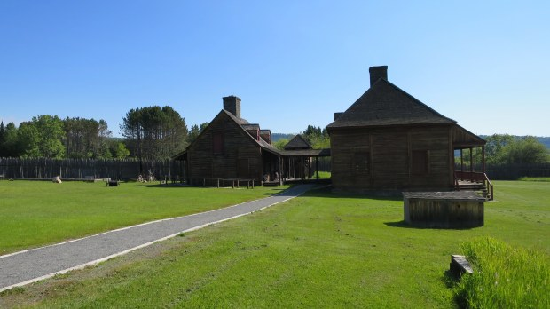 Reconstructed buildings of the original fort, Grand Portage National Monument, Minnesota