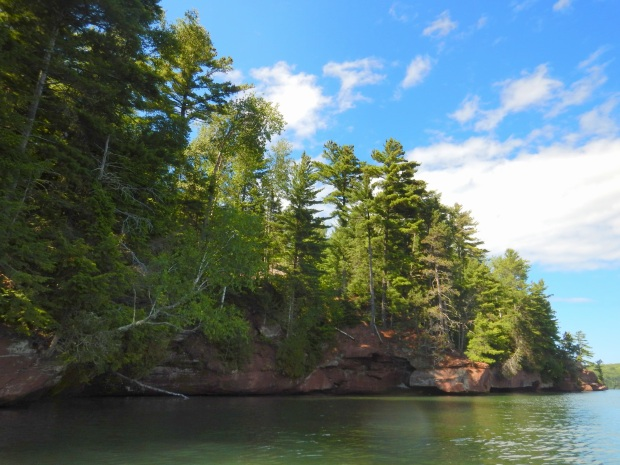 Red Cliff Indian Reservation from the kayak, Wisconsin
