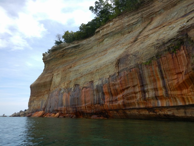 More mineral stains, Pictured Rocks National Lakeshore, Michigan
