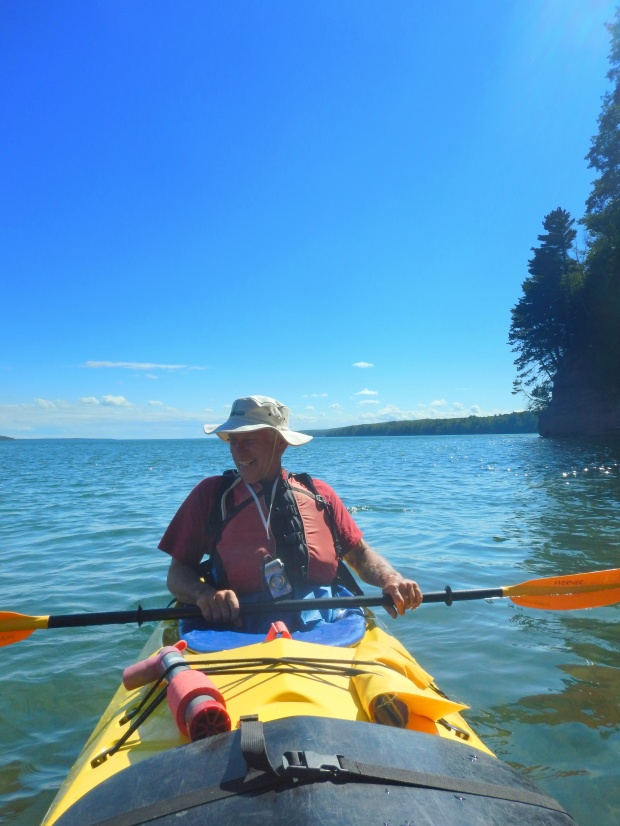 Tom paddling, Red Cliff Indian Reservation, Wisconsin