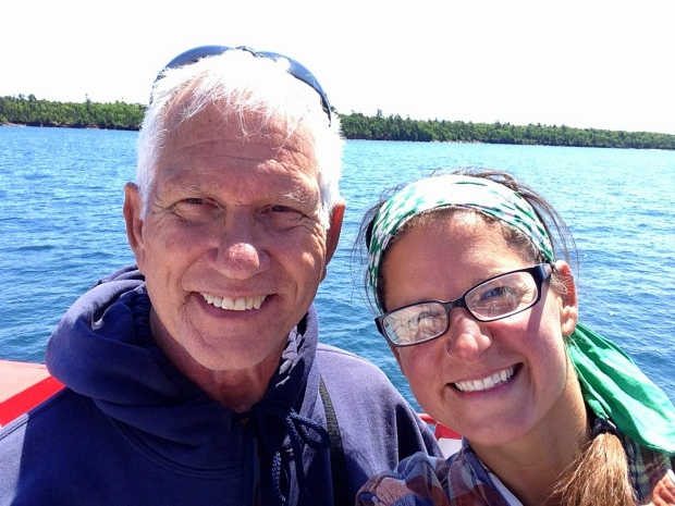 Tom and I on the Apostle Island Cruise, Apostle Islands National Lakeshore, Wisconsin