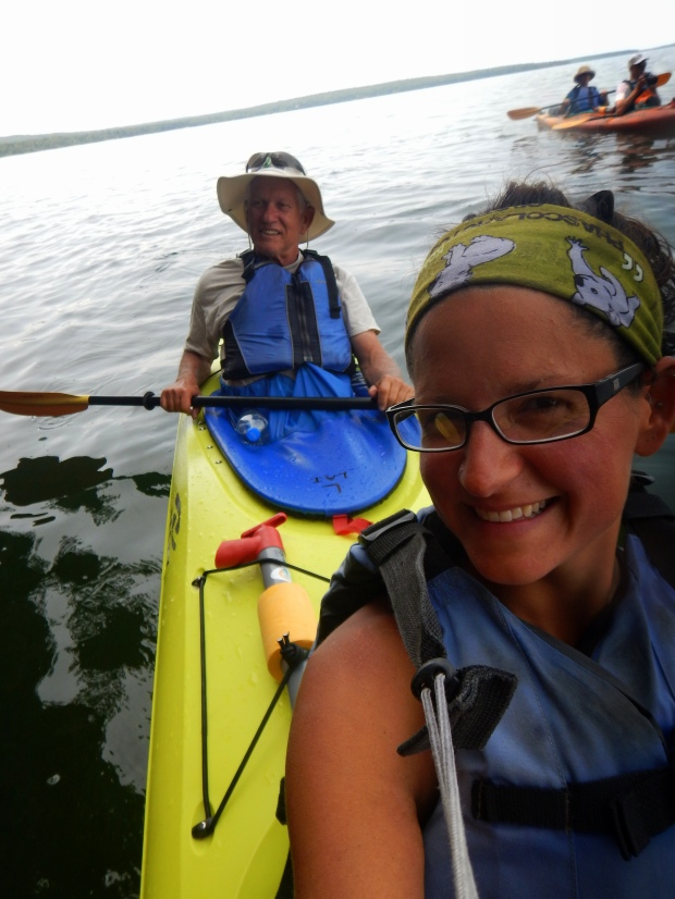 Us in the tandem kayak, Apostle Islands National Lakeshore, Wisconsin
