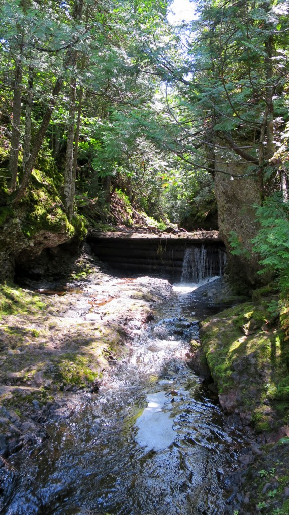 Below Manganese Falls, Copper Harbor, Michigan
