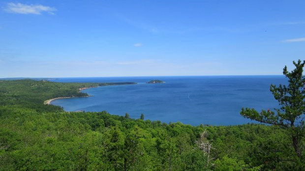 Views of Lake Superior from Sugarloaf Mountain, Marquette, Michigan