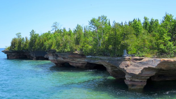 Sea caves, Devil's Island, Apostle Islands National Lakeshore, Wisconsin