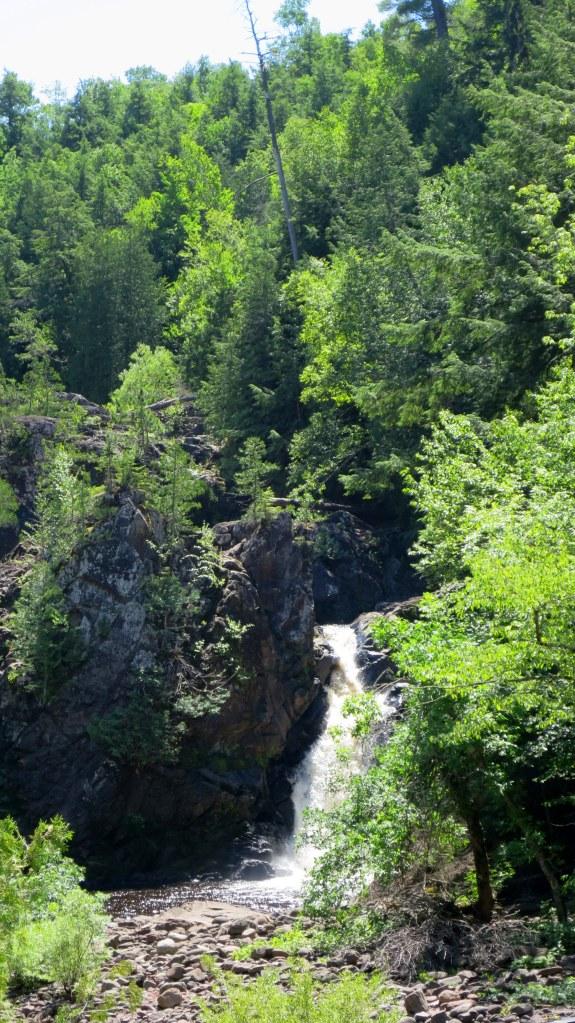 Obstructed view of Saxon Falls, Saxon Falls Hydro Plant, Michigan