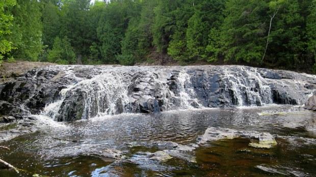 Small falls above Upper Potato Falls, Wisconsin
