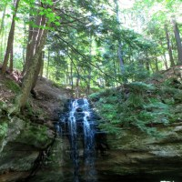 Swimming and Waterfall Hiking in Munising, Michigan