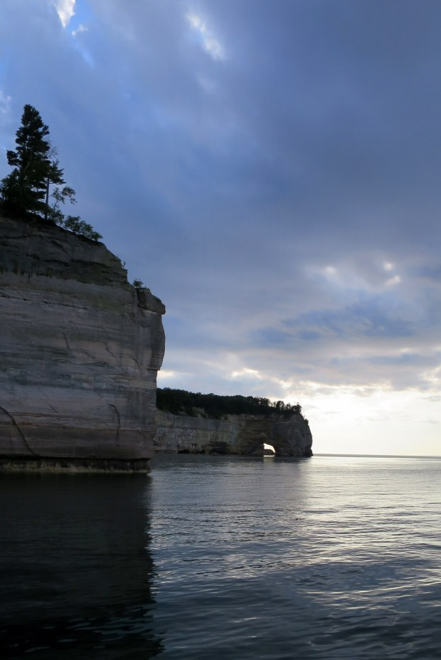 Clouds over an arch, Pictured Rocks National Lakeshore, Michigan