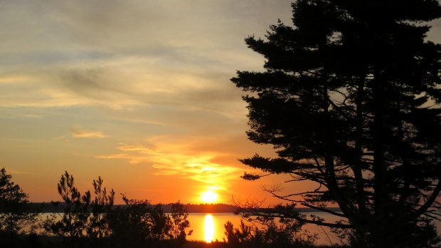 Sunset on the way back to camp, Munising, Michigan