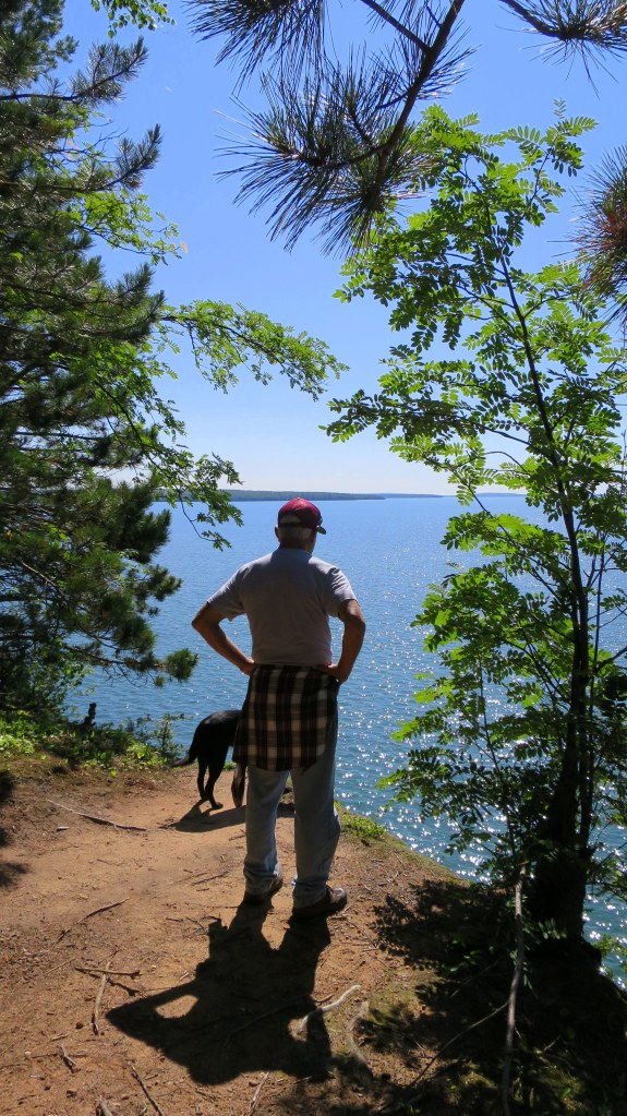 Tom and Abby, Lakeshore Trail, Apostle Islands National Lakeshore, Wisconsin