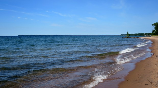 Beach on Madeline Island, Apostle Islands, Wisconsin