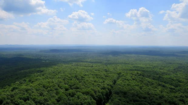Views from the top of the jump, Copper Peak Ski Flying Hill, Michigan