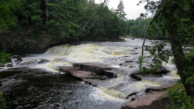 Nawadaha Falls, West River Trail, Porcupine Mountains Wilderness State Park, Michigan