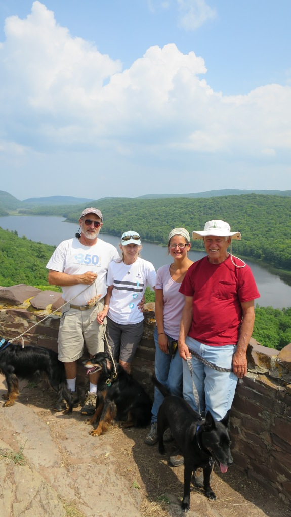 Grey, Teri, Me, and Tom (and Gabby, Missy, and Abby), Lake of the Clouds, Porcupine Mountains Wilderness State Park, Michigan