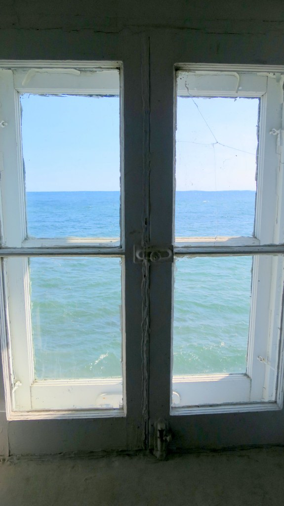 View out tower window, Eagle Harbor Lighthouse, Michigan