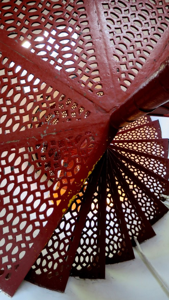 Tower stairs in Eagle Harbor Lighthouse, Michigan