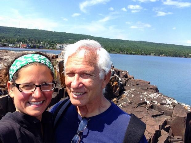 Tom and I, Artists' Point, Grand Marais, Minnesota