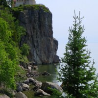 Split Rock Lighthouse State Park, the Briefest Possible Stop at Gooseberry Falls State Park, Two Harbors, and Canal Park in Duluth