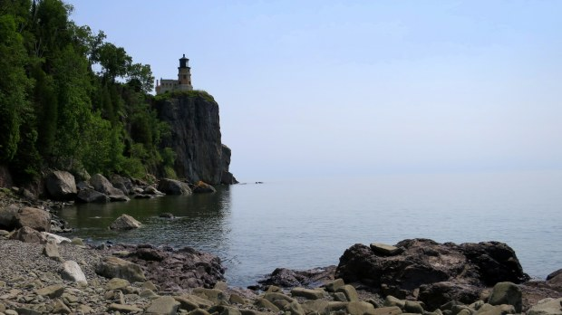 One more shot of the lighthouse from the shore, Split Rock Lighthouse State Park, Minnesota