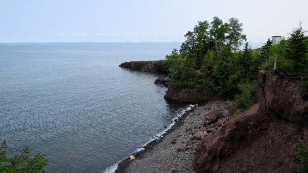 Walking along the shore, Two Harbors, Minnesota