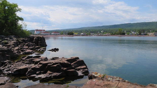 Looking into the bay, Artists' Point, Grand Marais, Minnesota