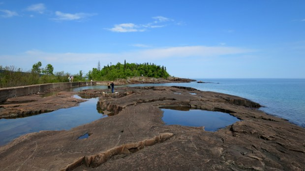 The artist at Artists' Point, Grand Marais, Minnesota