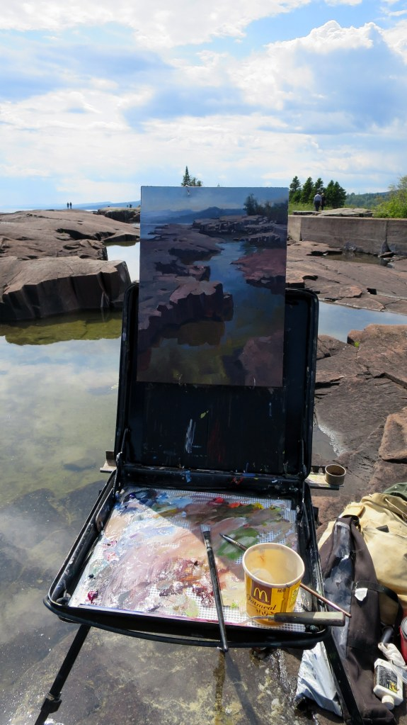 The artist's work at Artists' Point, Grand Marais, Minnesota