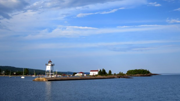 Looking across the harbor at the light, Grand Marais, Minnesota
