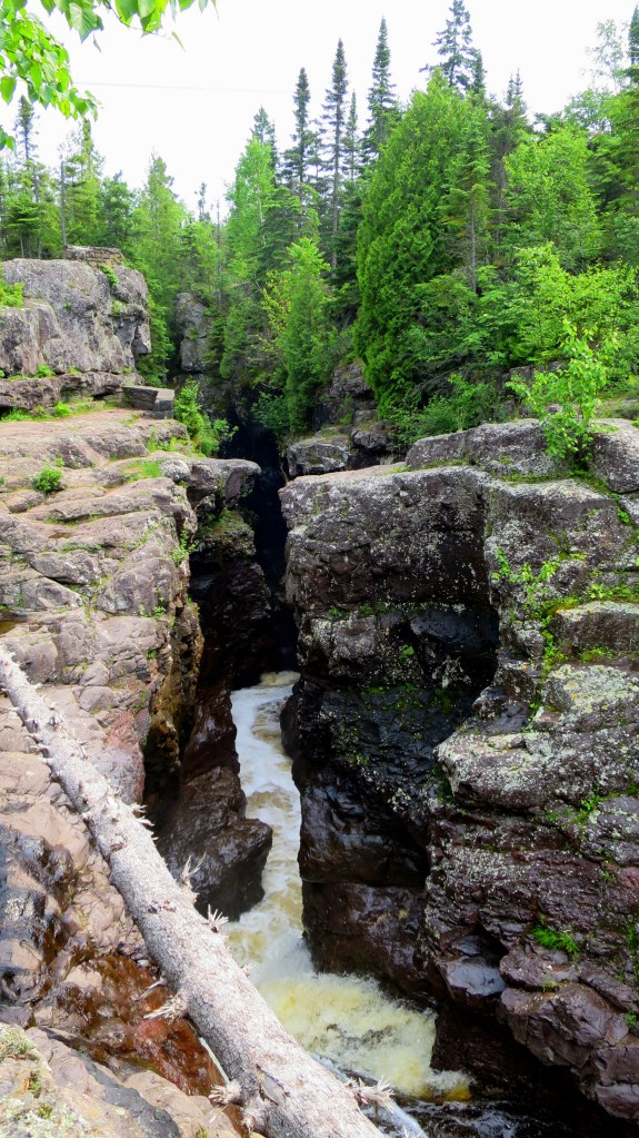 Looking into the gorge from below, Temperance River Gorge Trail, Temperance River State Park, Minnesota