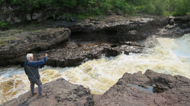 Tom taking photos on the Temperance River Gorge Trail, Temperance River State Park, Minnesota